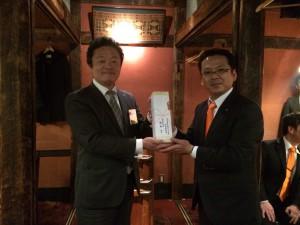 愛知ブロック協議会 JC青年の船「とうかい号」特別委員会 松永了 特別委員長が訪問してくださいました。