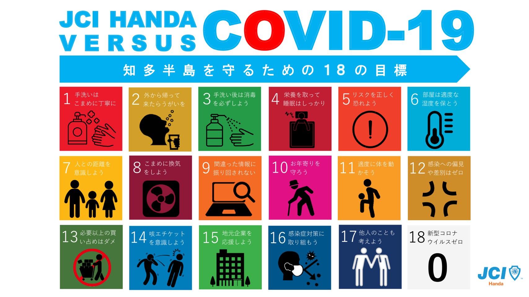 【JCI HANDA VS COVID-19 ~知多半島を守るための18の目標~】